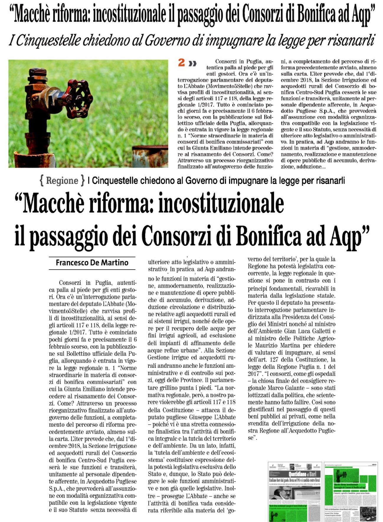 Quotidiano di Bari - 22.02.2017