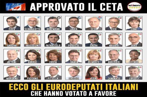 Approvato il CETA dal Parlamento Europeo, un trattato di libero scambio tra Ue e Canada che apre le porte alle multinazionali