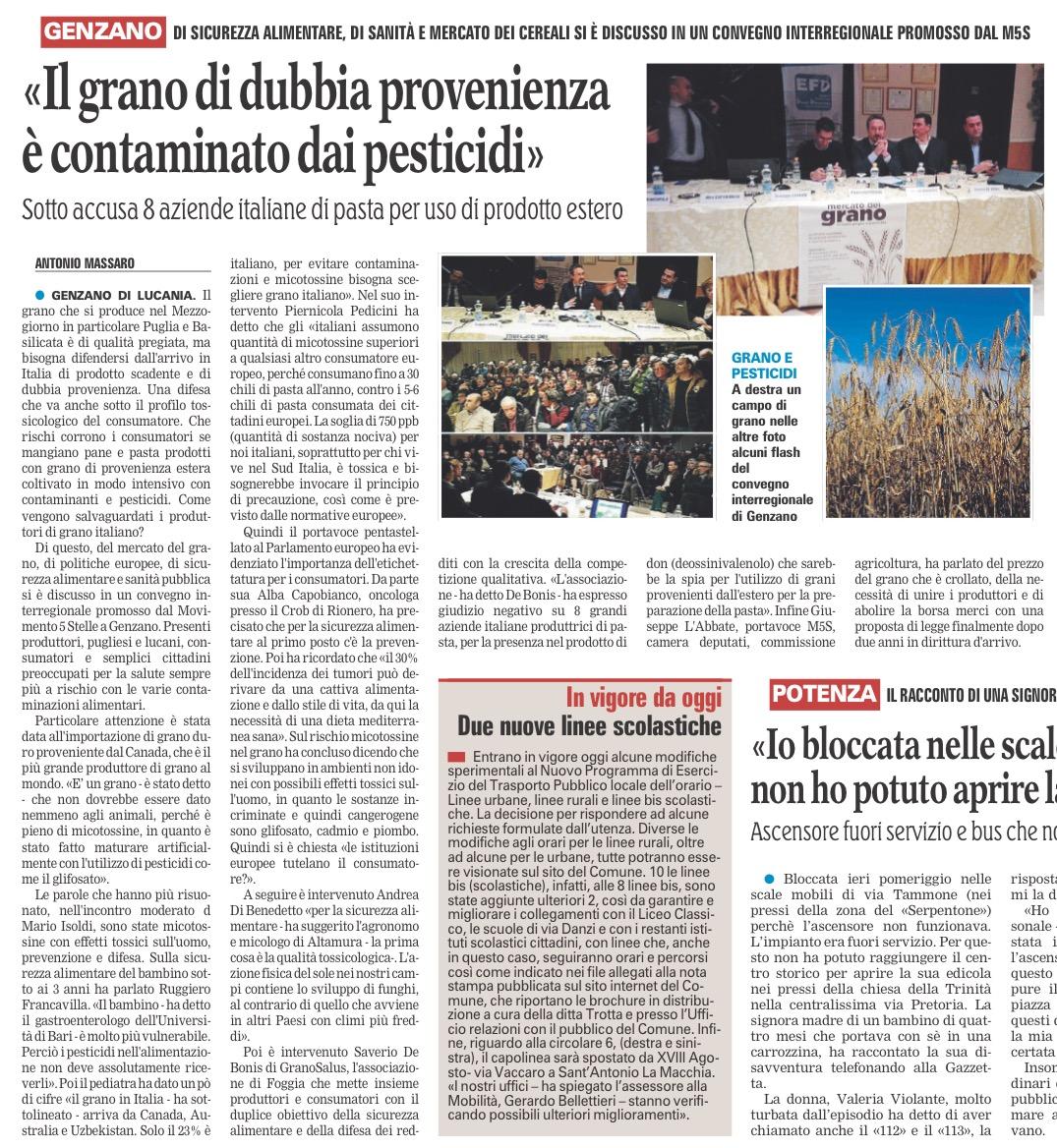 La Gazzetta del Mezzogiorno - 14.03.2017