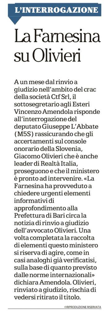 La Repubblica Bari - 28.03.2017