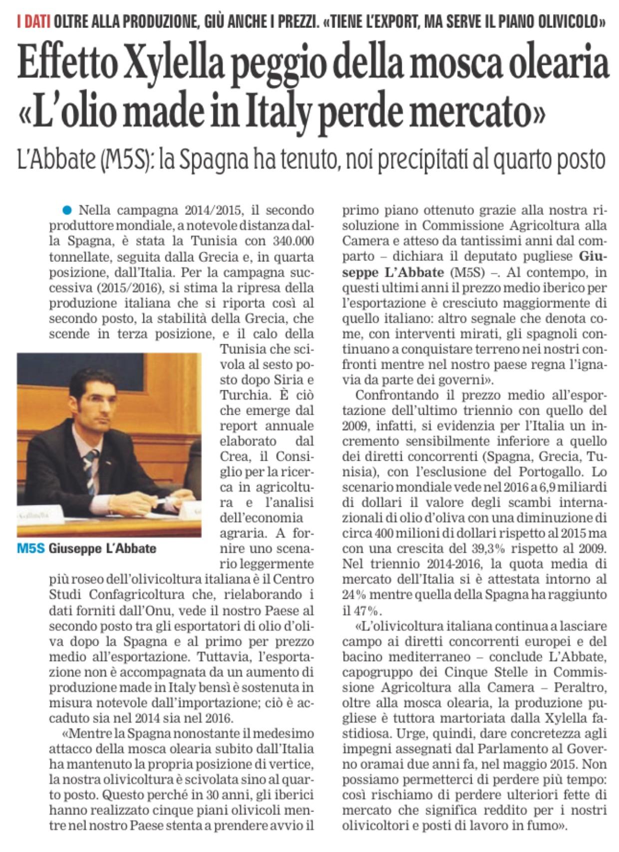 La Gazzetta del Mezzogiorno - 22.04.2017