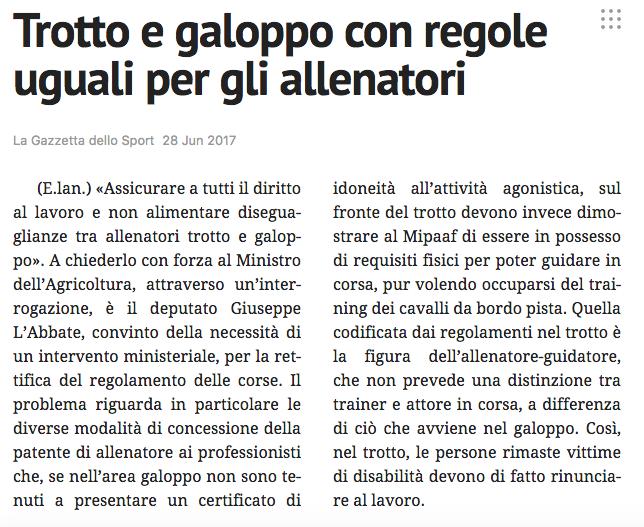 La Gazzetta dello Sport - 28.06.2017