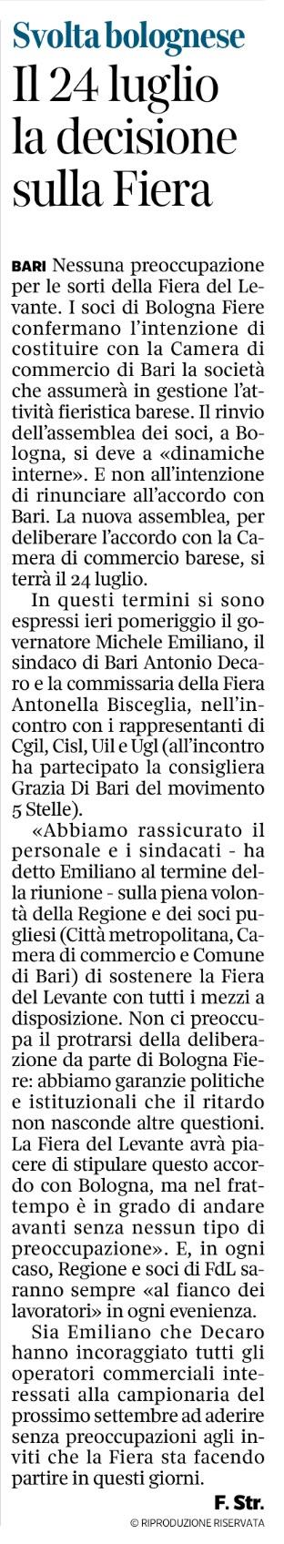 Il Corriere del Mezzogiorno - 04.07.2017