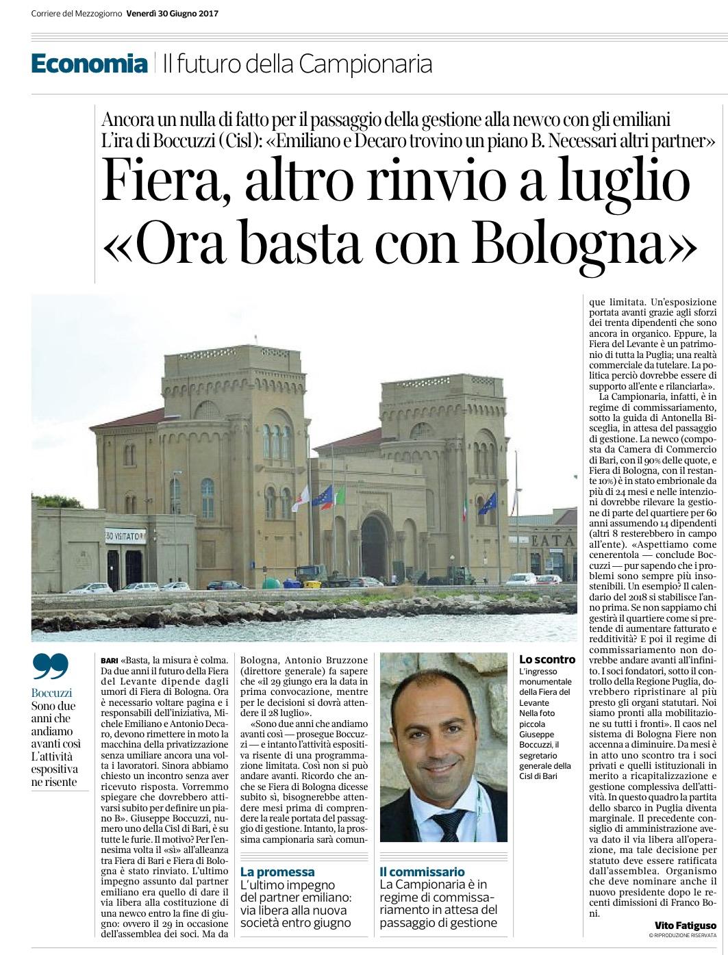 Il Corriere del Mezzogiorno - 30.06.2017