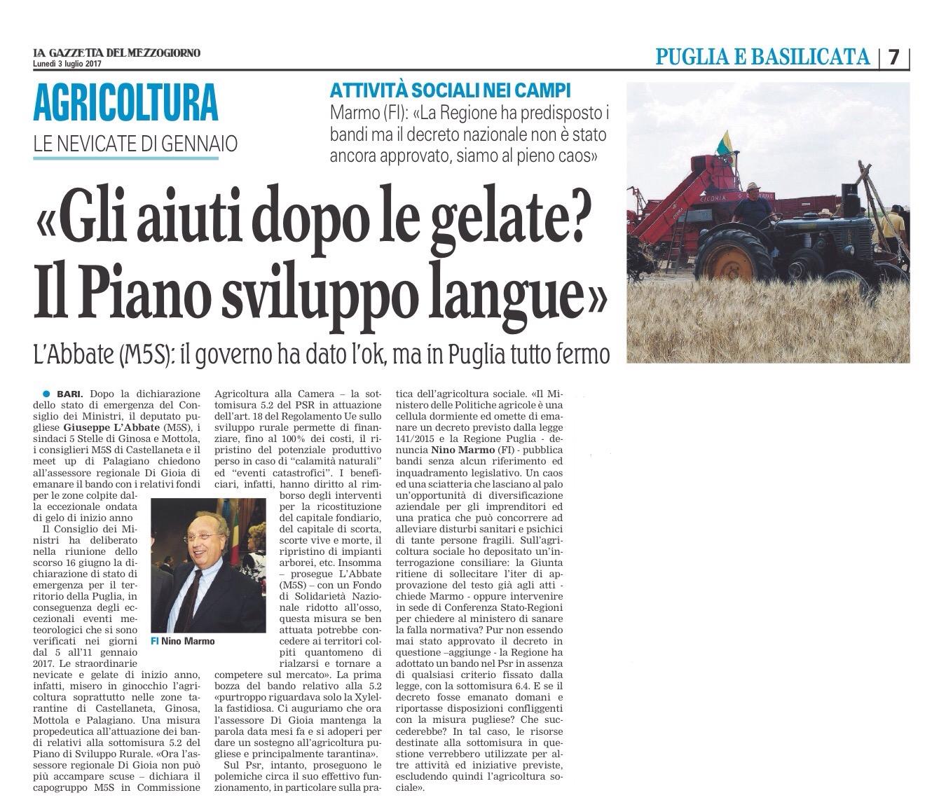 La Gazzetta del Mezzogiorno - 03.07.2017