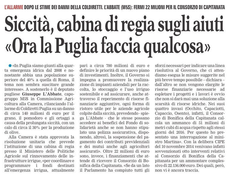 La Gazzetta del Mezzogiorno - 31.07.2017