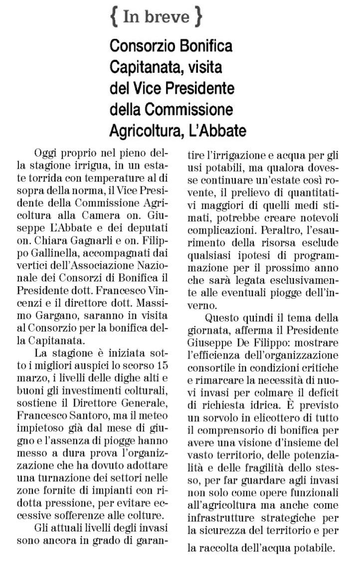 Il Quotidiano di Foggia - 14.07.2017