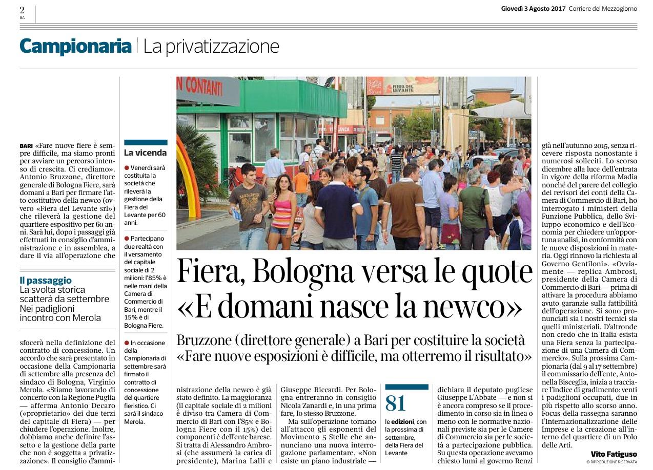 Il Corriere del Mezzogiorno - 03.08.2017