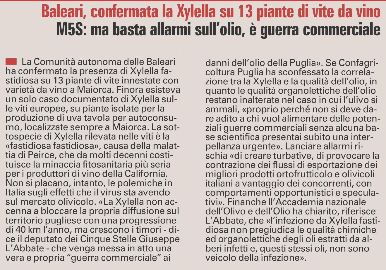 La Gazzetta del Mezzogiorno - 06.09.2017
