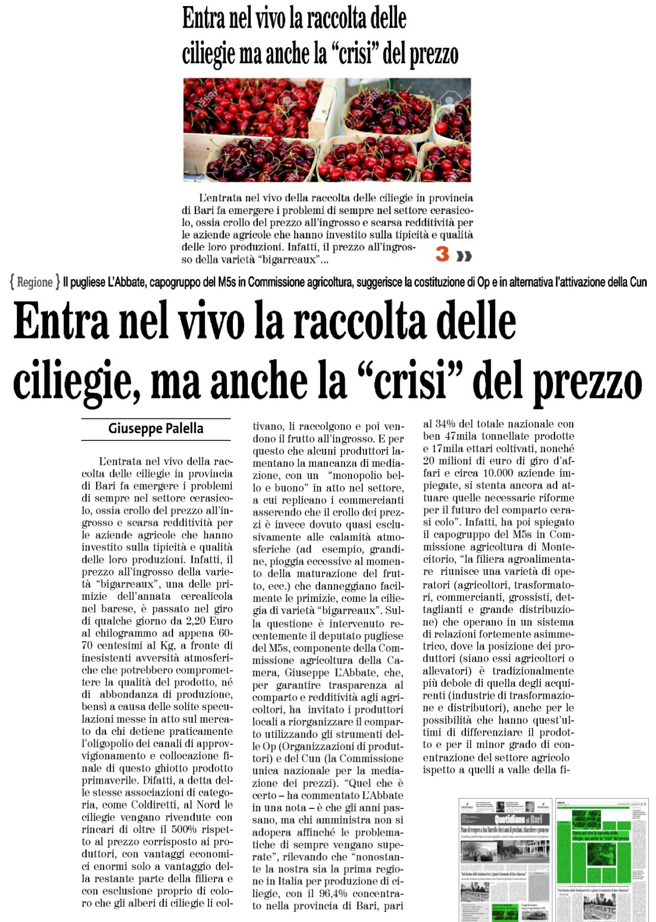 Il Quotidiano di Bari - 18.05.2017