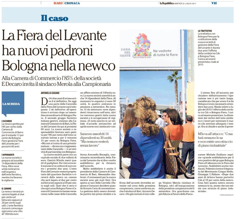 La Repubblica Bari - 25.07.2017