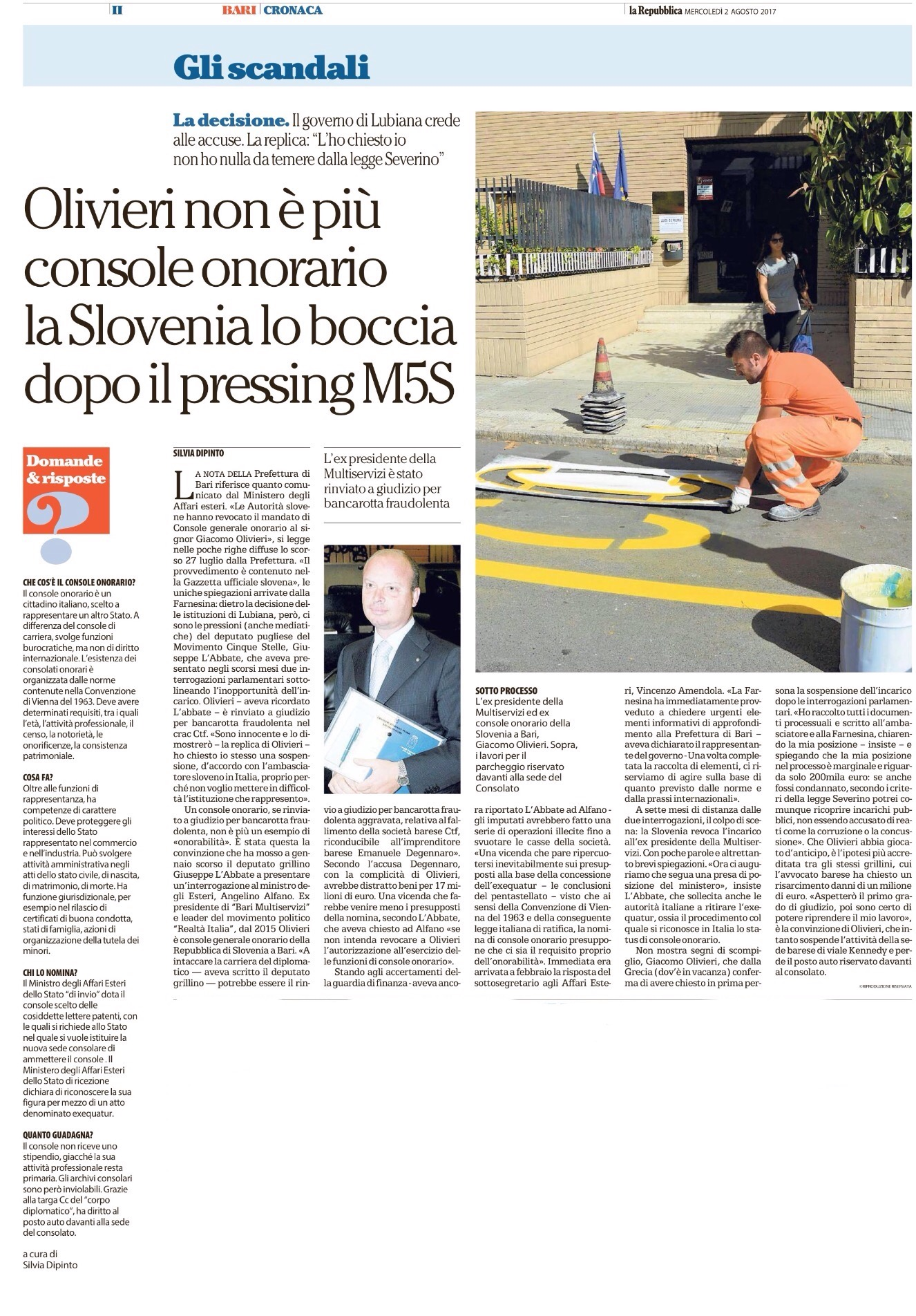 La Repubblica Bari - 02.08.2017