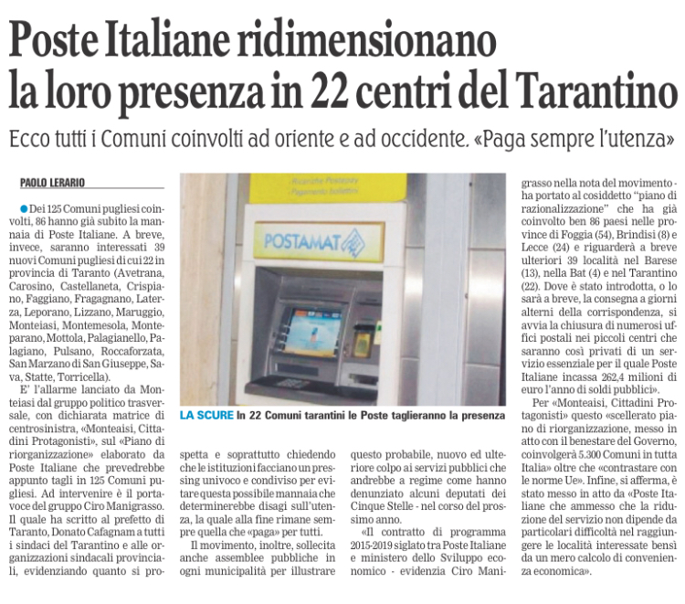 La Gazzetta del Mezzogiorno - 04.11.2017