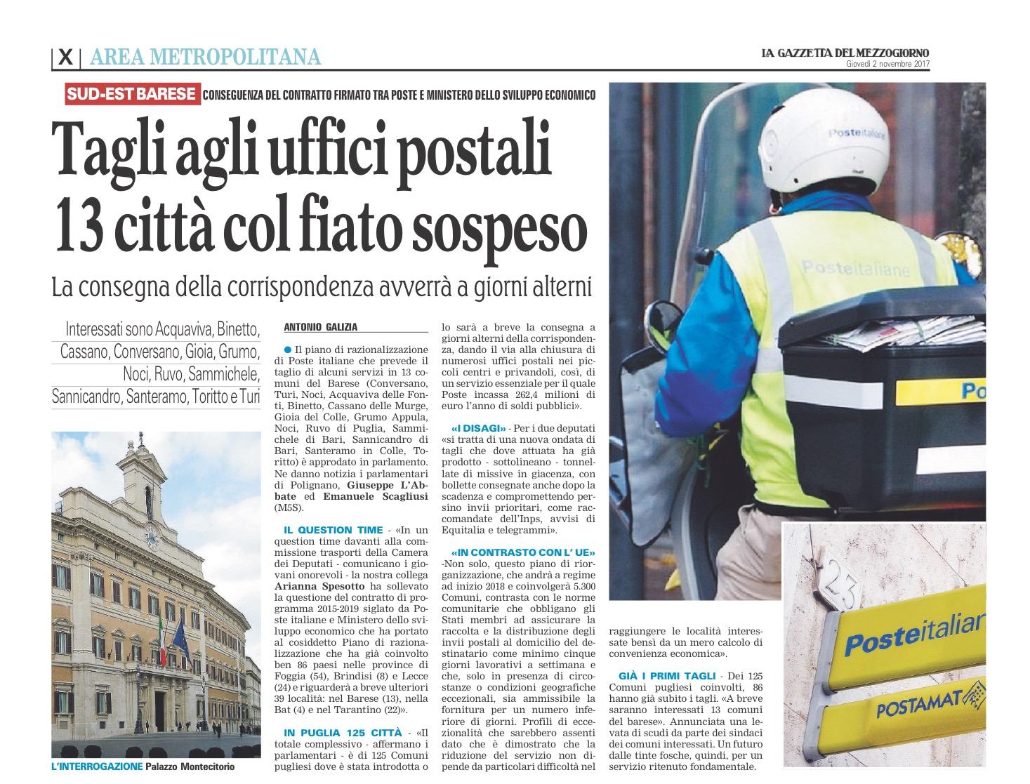 La Gazzetta del Mezzogiorno - 02.11.2017