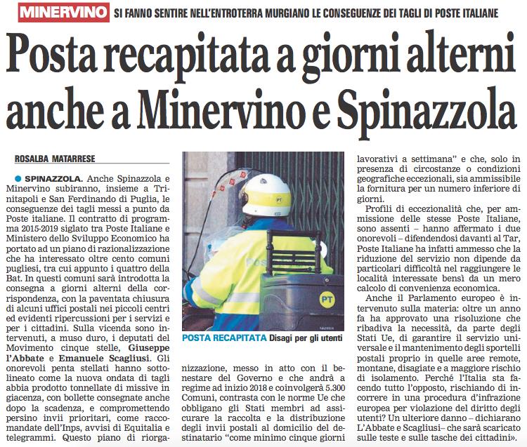 La Gazzetta del Mezzogiorno - 07.11.2017