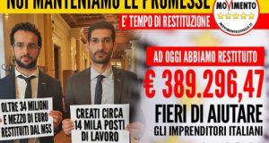 Con il collega e amico Emanuele Scagliusi, da Polignano per il Fondo per le Piccole e Medie Imprese sono arrivati quasi 400mila euro di restituzione