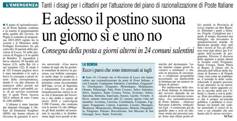 Il Nuovo Quotidiano di Lecce - 28.10.2017