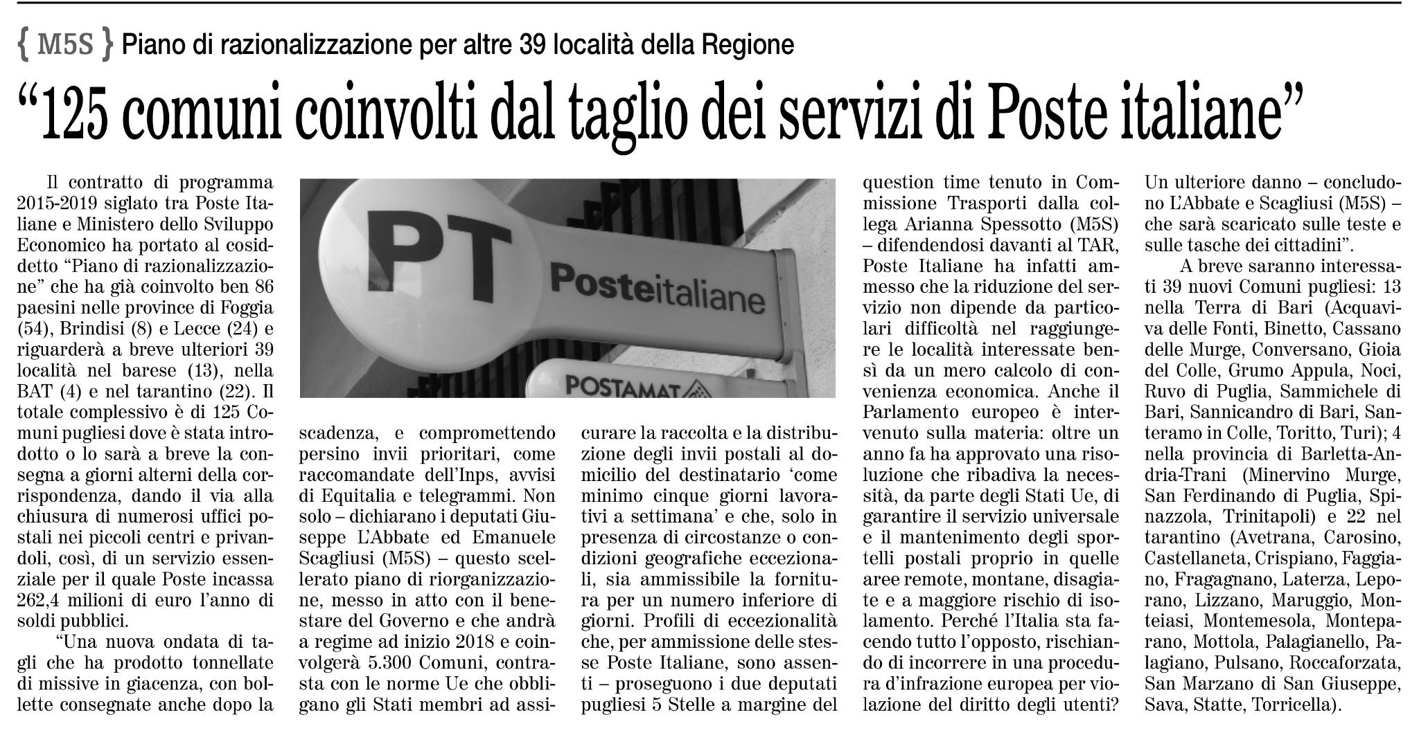 Il Quotidiano di Bari - 29.10.2017