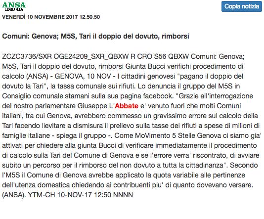 Ansa Liguria - 10.11.2017