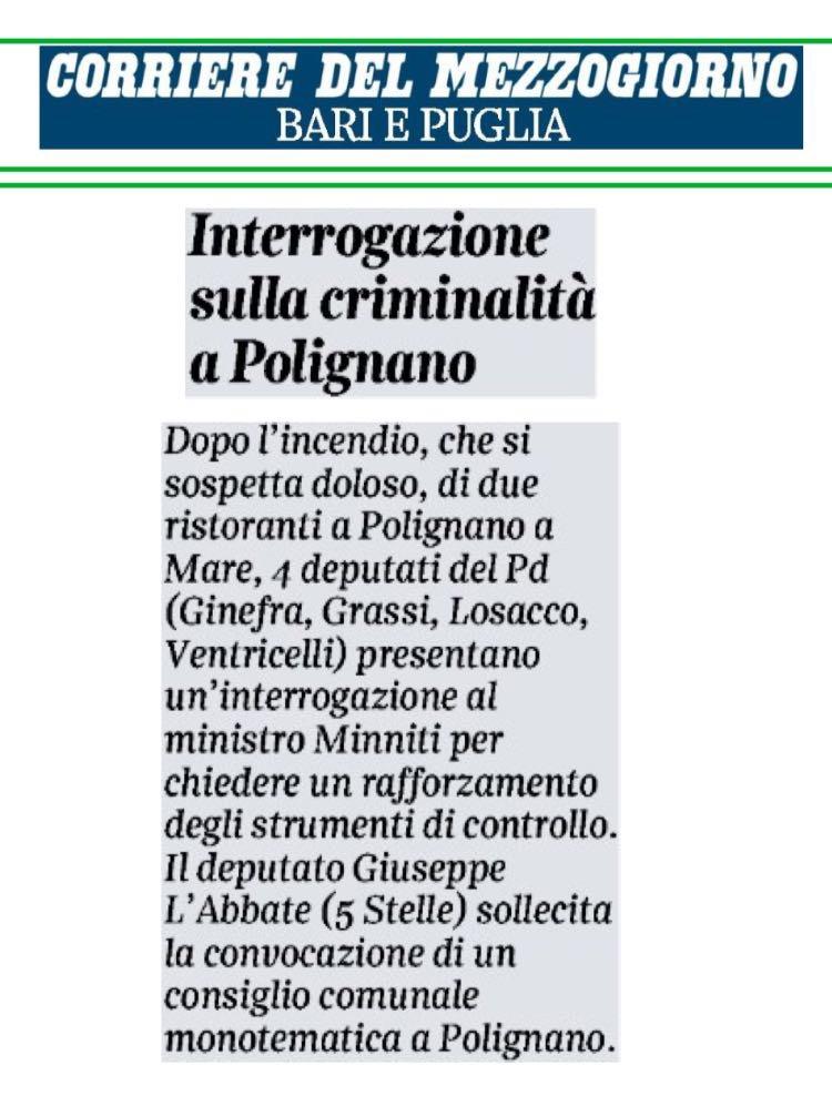 Il Corriere del Mezzogiorno - 04.11.2017