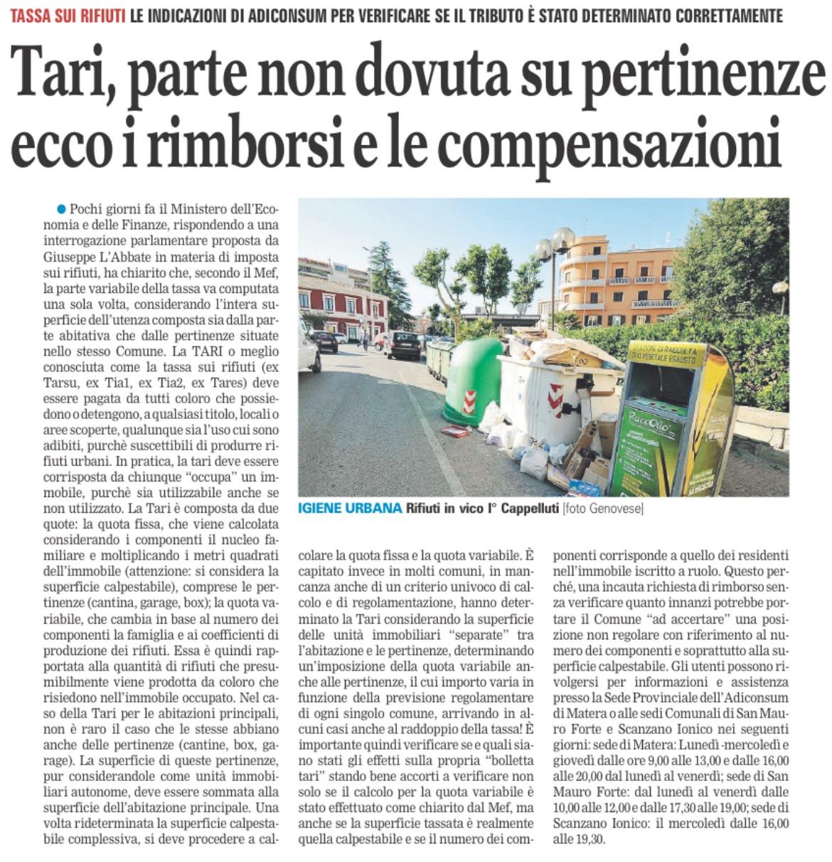 La Gazzetta del Mezzogiorno - Basilicata - 12.11.2017
