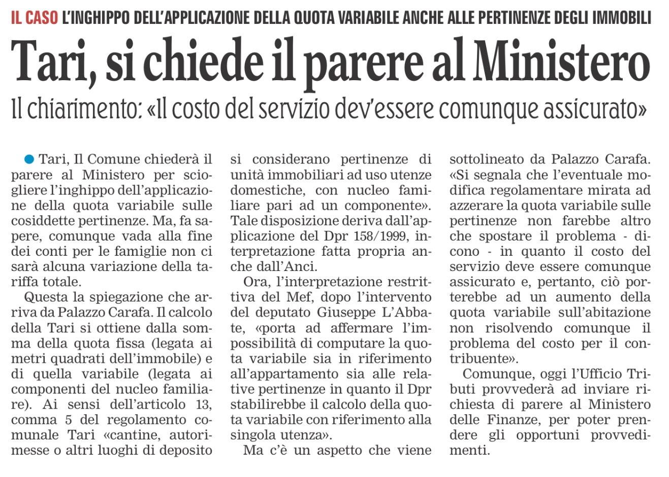 La Gazzetta del Mezzogiorno - Lecce - 13.11.2017