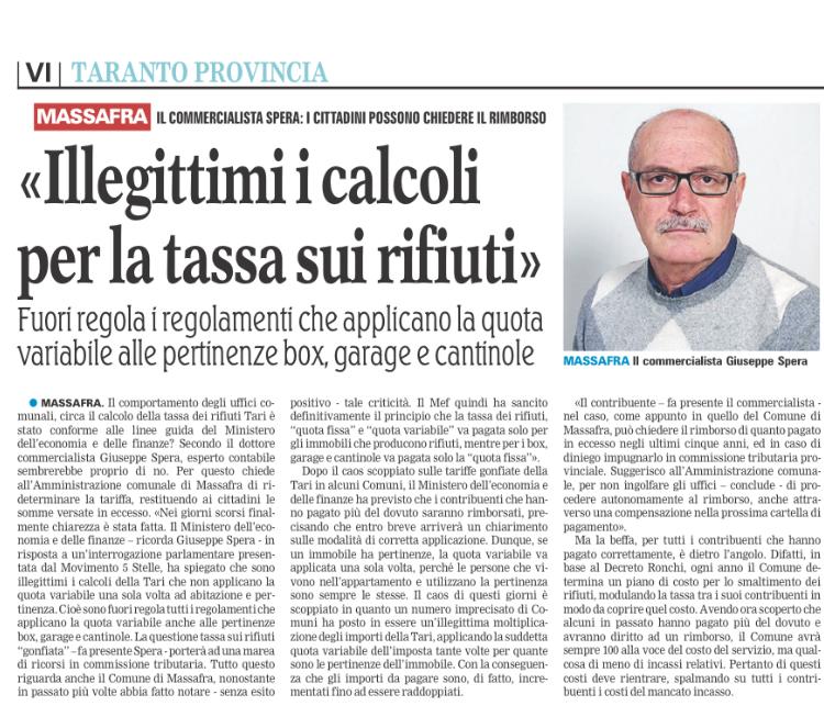 La Gazzetta del Mezzogiorno - 20.11.2017