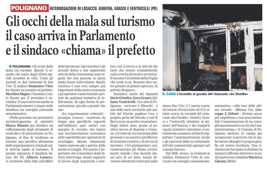 La Gazzetta del Mezzogiorno - 06.11.2017