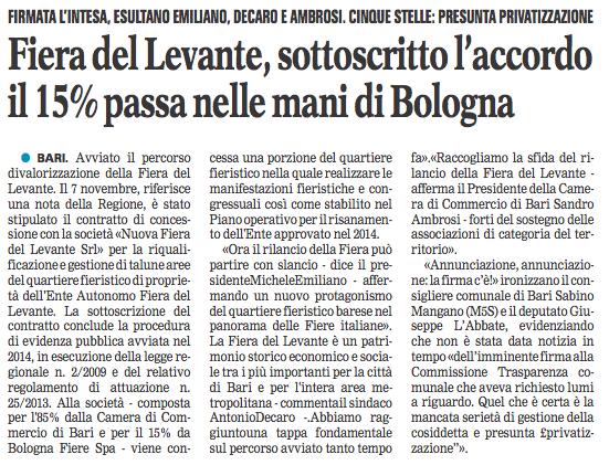La Gazzetta del Mezzogiorno - 09.11.2017