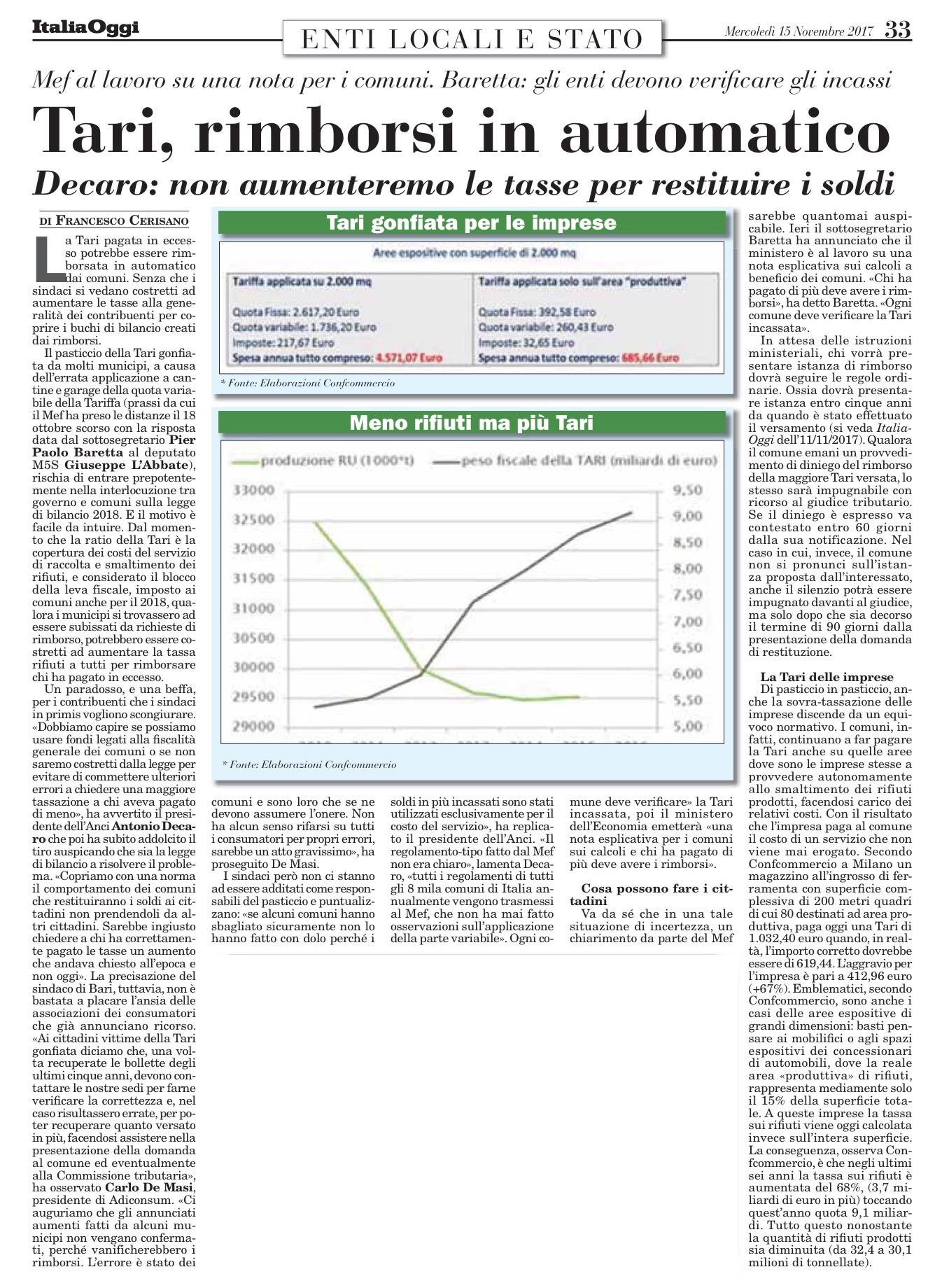 Italia Oggi - 15.11.2017