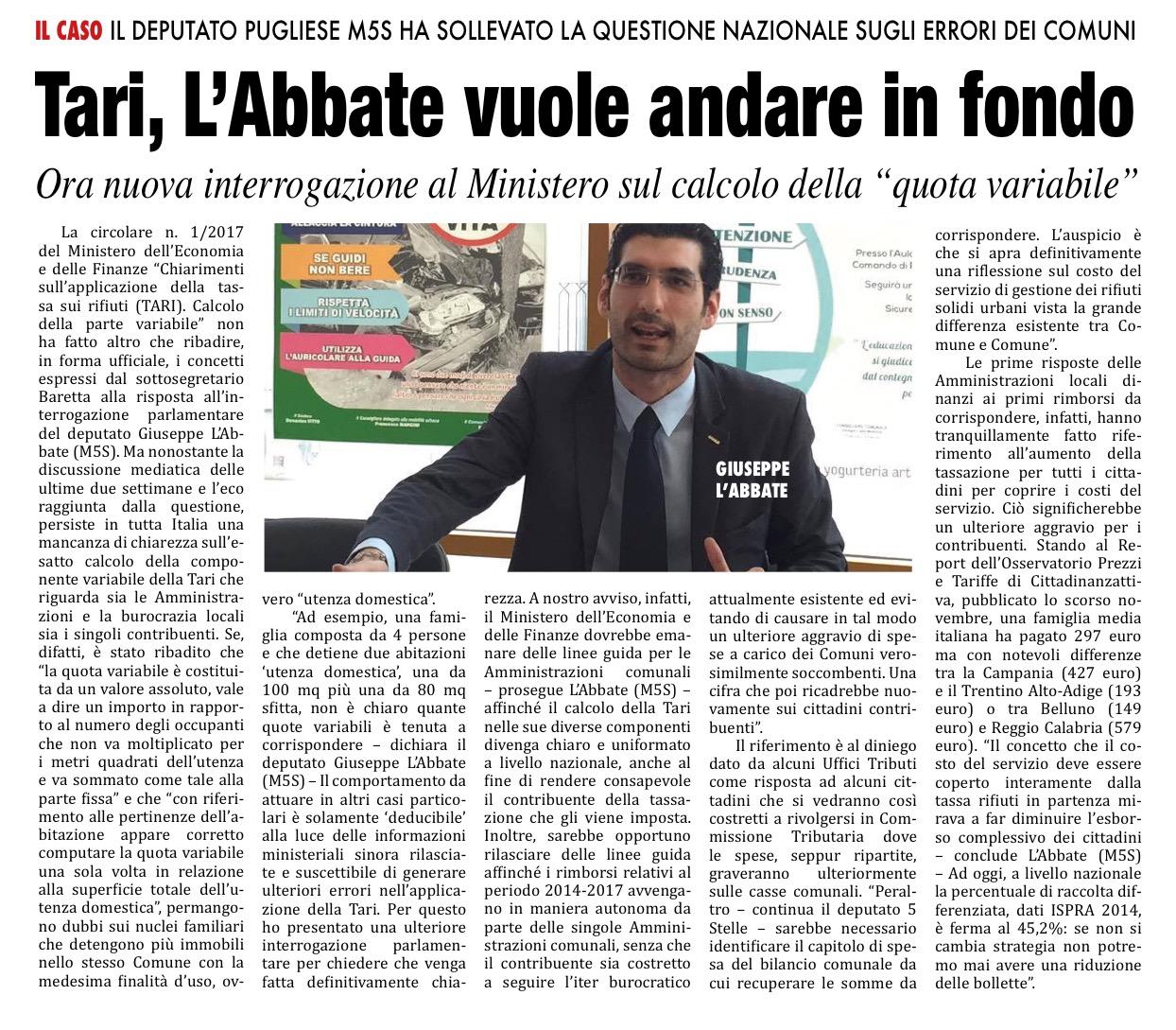 Il Mattino di Foggia - 26.11.2017
