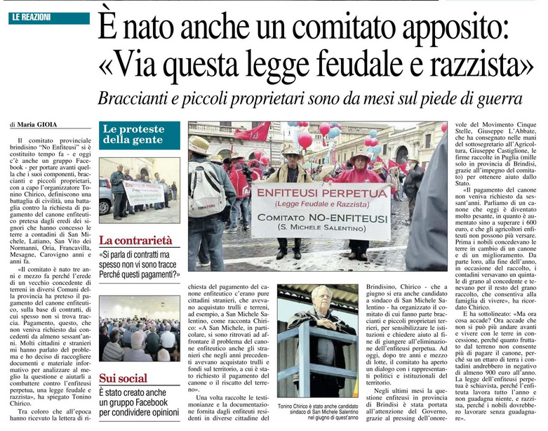 Il Nuovo Quotidiano di Puglia - 15.11.2017