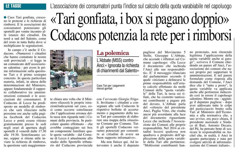 Il Nuovo Quotidiano di Puglia - 17.11.2017