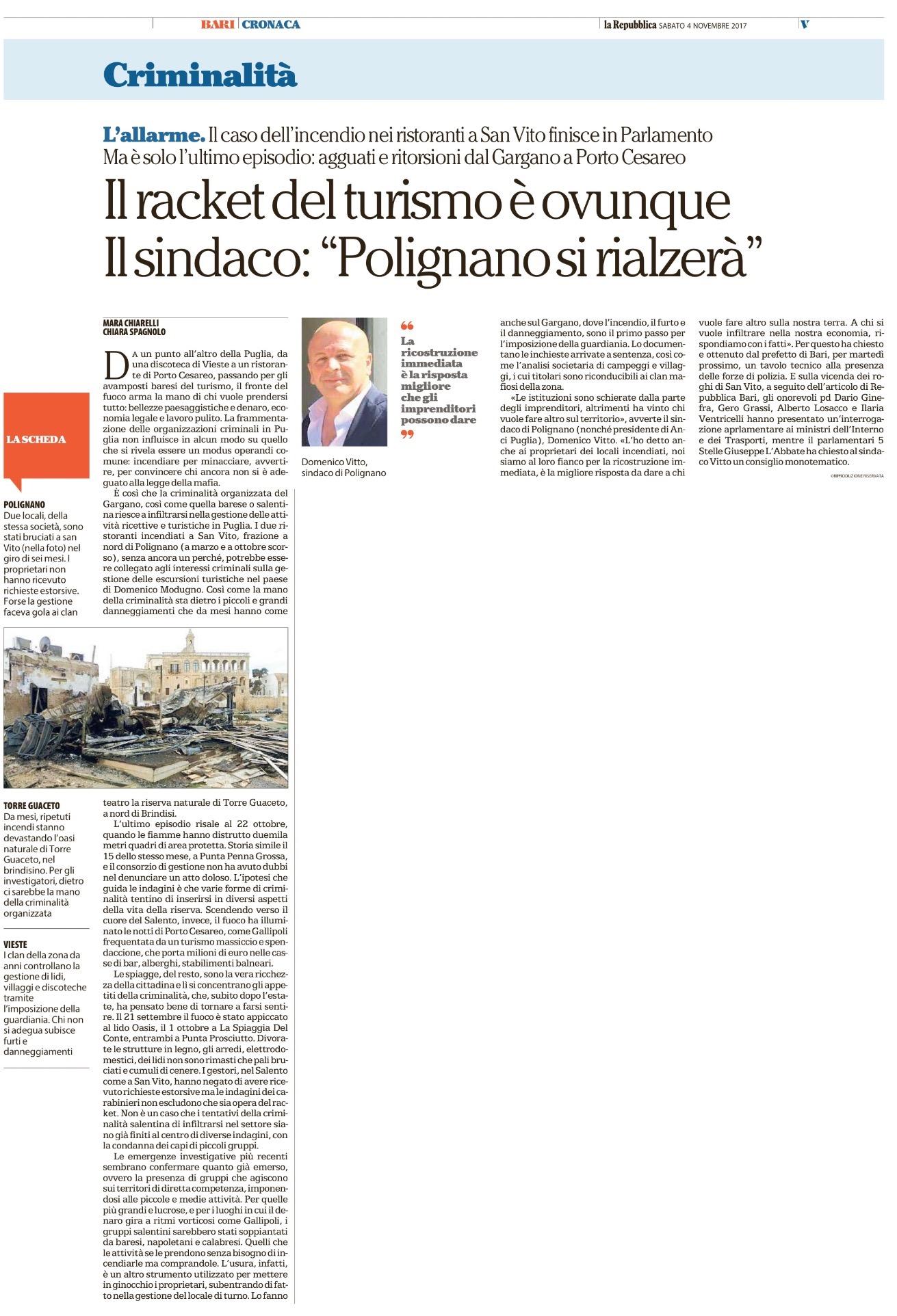 La Repubblica Bari - 04.11.2017