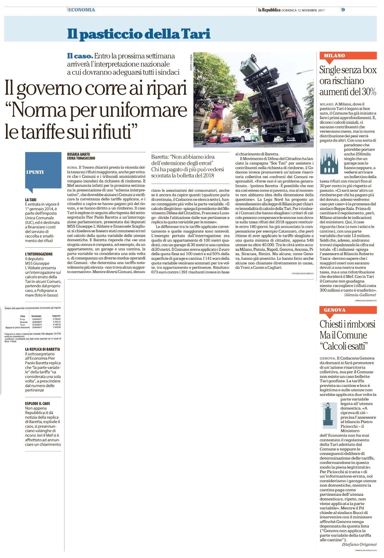 La Repubblica - 12.11.2017