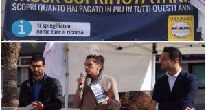 Il M5S in piazza Moro a Polignano per informare i cittadini dell'errato calcolo della quota variabile della Tari, la tassa rifiuti
