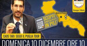 Dopo Polignano a Mare, Conversano e Putignano il Tari Tour M5S arriva a Ruvo di Puglia (BA)
