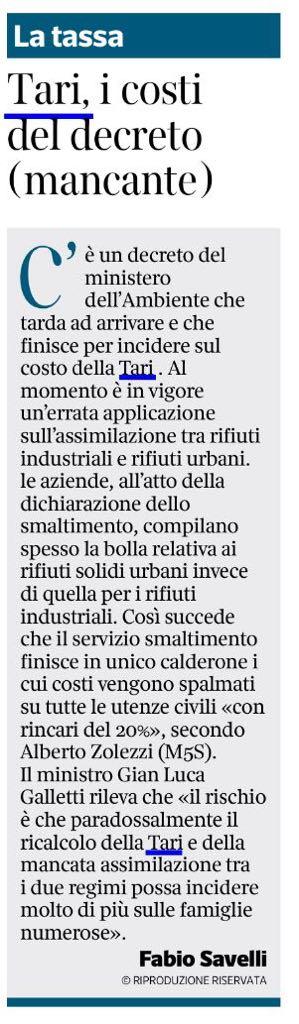 Il Corriere della Sera - 09.12.2017