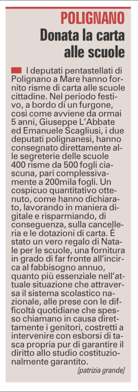 La Gazzetta del Mezzogiorno - 03.01.2018