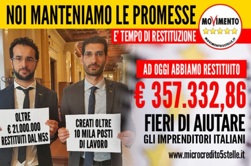 Con il collega e amico Emanuele Scagliusi, da Polignano per il Fondo per le Piccole e Medie Imprese sono arrivati oltre 350mila euro di restituzione