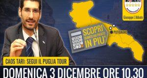 Dopo Polignano a Mare e Conversano il Tari Tour M5S arriva a Putignano (BA)