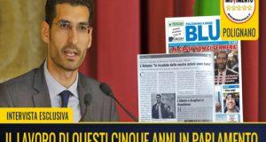 Intervista in esclusiva al settimanale locale BLU in merito al lavoro portato avanti in questi 5 anni in Parlamento a Montecitorio