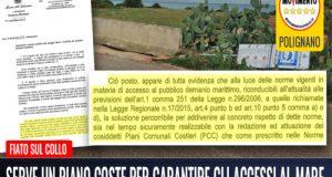La Direzione Marittima invita la Regione Puglia e il Comune di Polignano ad adoperarsi per risolvere la problematica degli accessi al mare