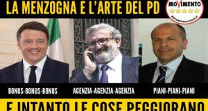 A Roma, a Bari e a Polignano – ovunque dove c'è il PD – regna la menzogna. Dire bugie è lo strumento del Partito Democratico per ingannare i cittadini