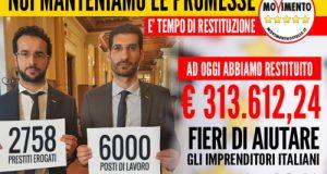 Mentre i deputati M5S di Polignano sfondano quota 300mila euro di contribuzione al fondo per il microcredito, in Regione Puglia festeggiano la restituzione