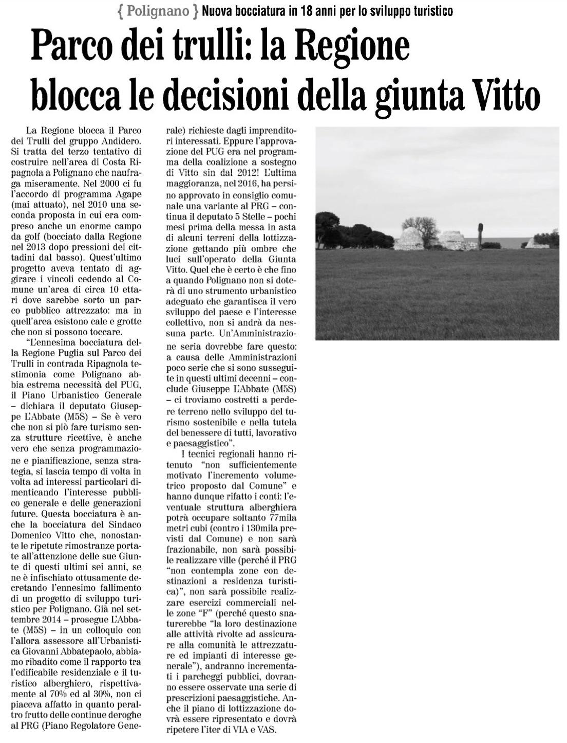 Il Quotidiano di Bari - 05.01.2018
