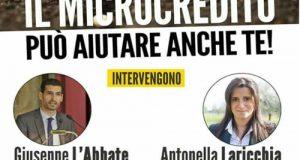 Appuntamento in piazza a Noci, nella provincia barese, con la consigliera M5S Antonella Laricchia per illustrare lo strumento del Microcredito