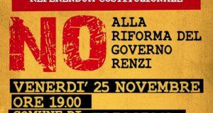 Incontro-dibattito presso il municipio di Triggiano per analizzare la riforma costituzionale Renzi-Boschi in vista del Referendum del 4 dicembre