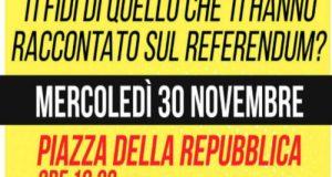 Gazebo in piazza della Repubblica a Gravina per analizzare la riforma costituzionale Renzi-Boschi in vista del Referendum del 4 dicembre