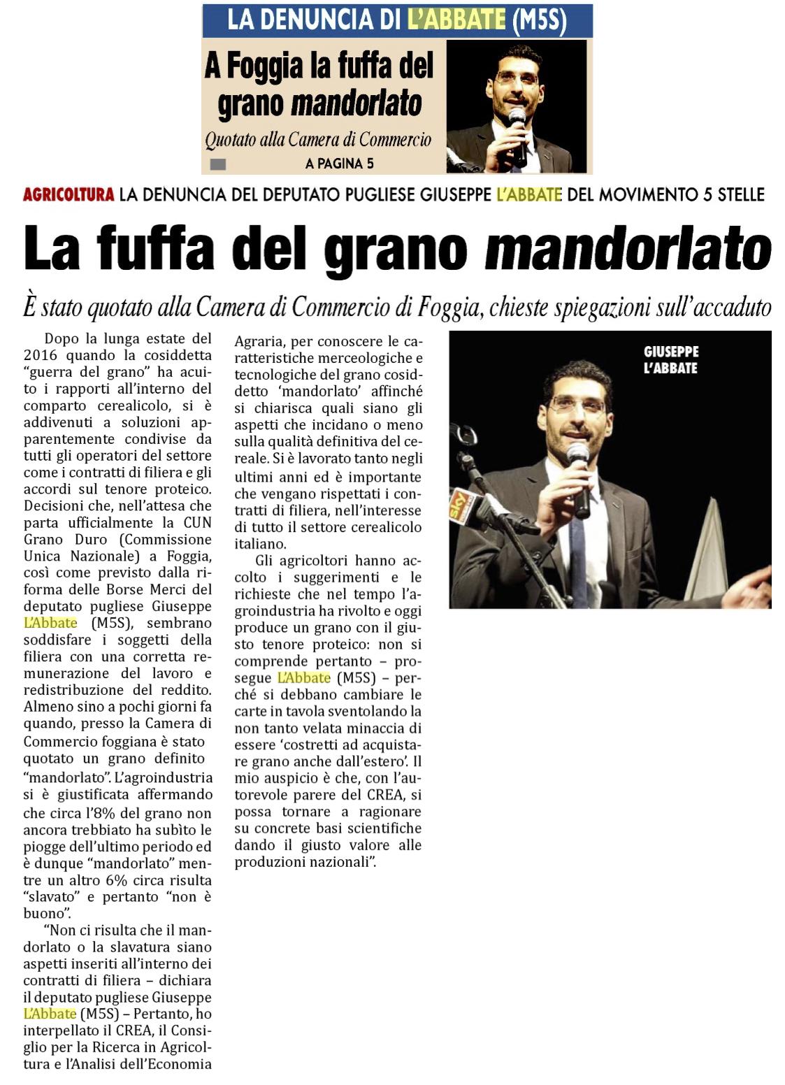 Il Mattino di Foggia - 28.06.2018